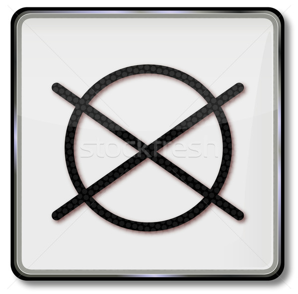 Textile care symbol do not dry in the tumble dryer Stock photo © Ustofre9