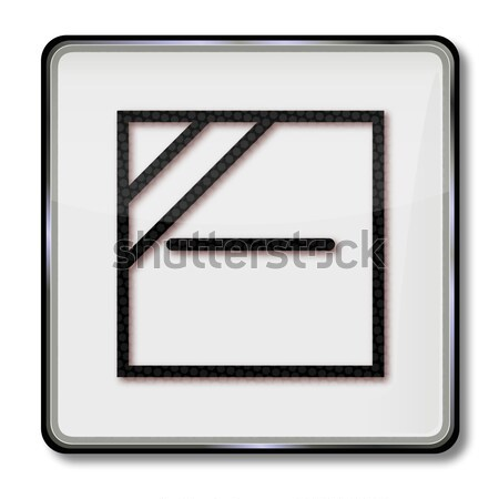 Textile care symbol dry textile only lying Stock photo © Ustofre9