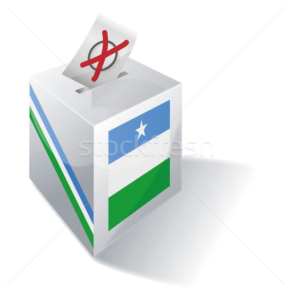 Cédula caixa mapa bandeira África europa Foto stock © Ustofre9