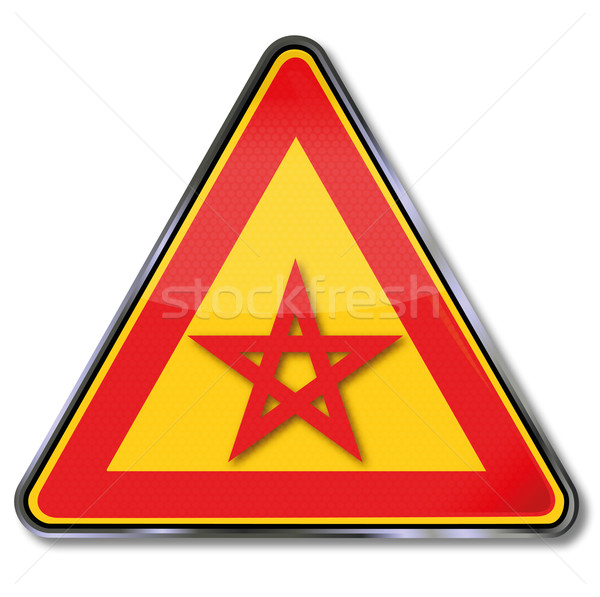 Sign with five-pointed star and pentagram Stock photo © Ustofre9