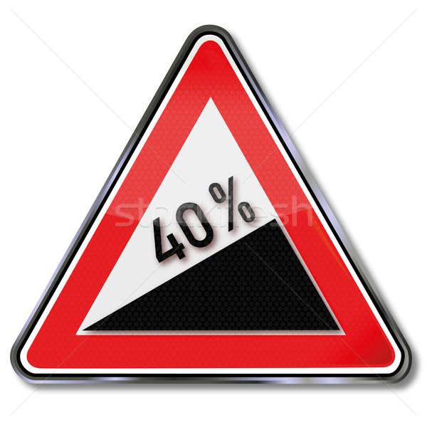 Signo tráfico 40 por ciento tráfico éxito Foto stock © Ustofre9