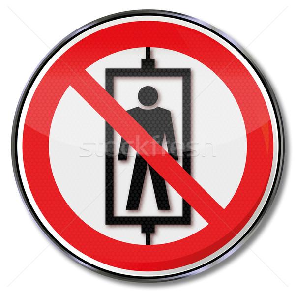 Stock photo: Prohibition sign no passenger elevator