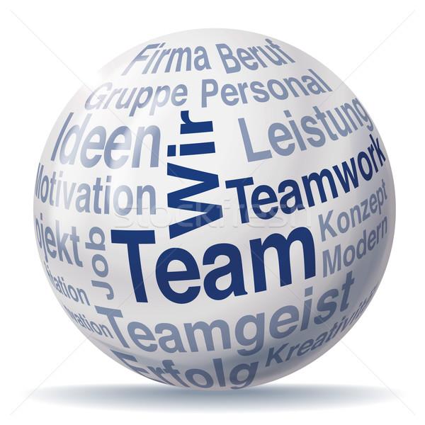 Trabalho em equipe equipe esfera negócio globo projeto Foto stock © Ustofre9