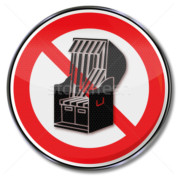 Prohibition sign for beach chairs Stock photo © Ustofre9