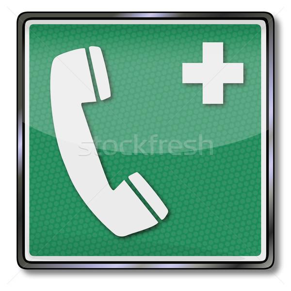 Emergency sign emergency telephone  Stock photo © Ustofre9