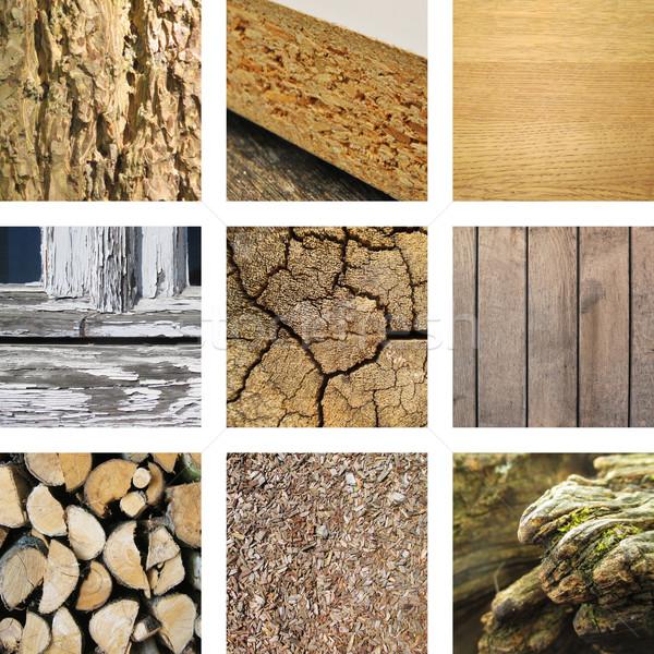 Nove immagini legno costruzione foresta sfondo Foto d'archivio © Ustofre9