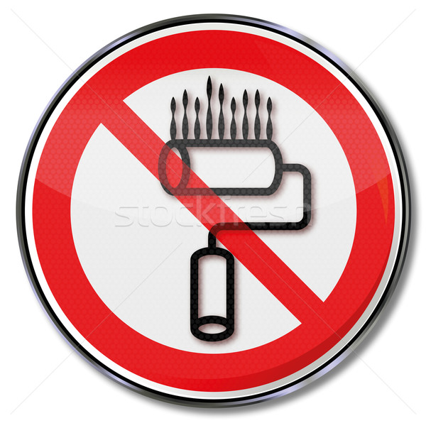 Prohibition sign for paint rollers Stock photo © Ustofre9