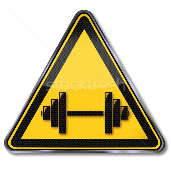 Sign weightlifting and dumbbell Stock photo © Ustofre9