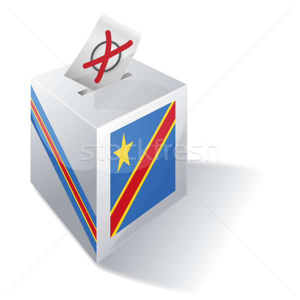 Vot cutie democratic republica Congo trece Imagine de stoc © Ustofre9