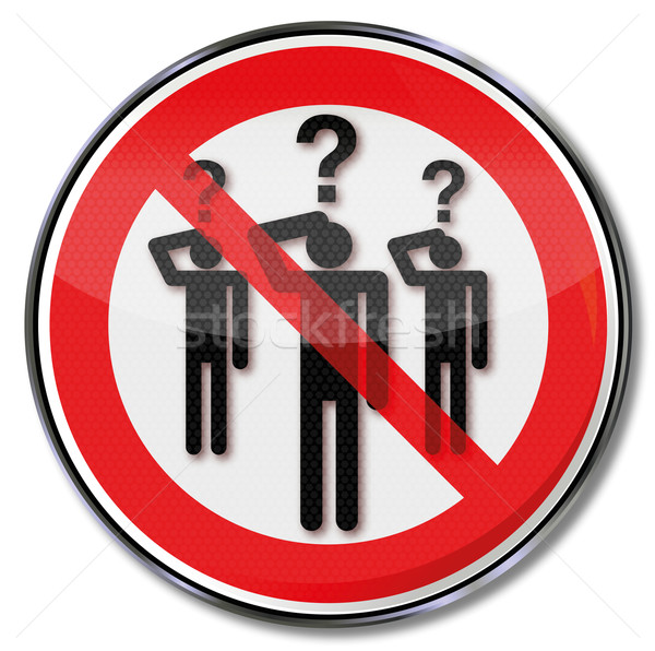 Sign people with questions Stock photo © Ustofre9