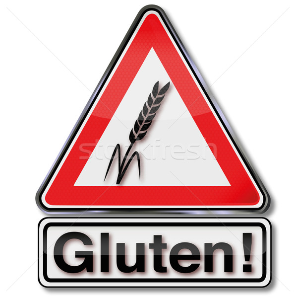 Warning sign attention gluten Stock photo © Ustofre9