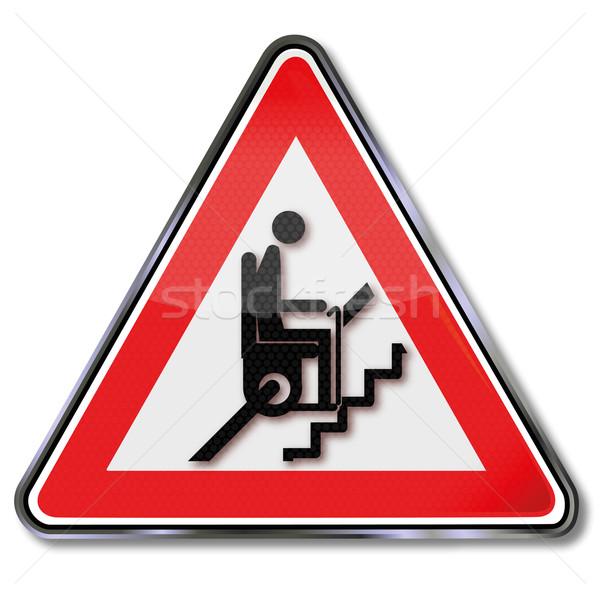 знак внимание лестниц лифт семьи домой Сток-фото © Ustofre9