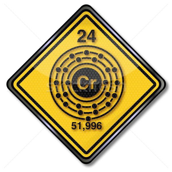 Signe chimie personnage chrome couleur signes Photo stock © Ustofre9