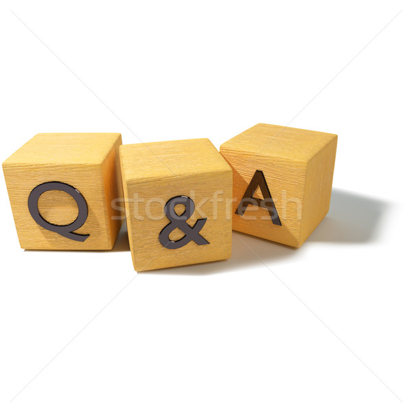 Kocka kérdések válaszok iroda internet fa Stock fotó © Ustofre9