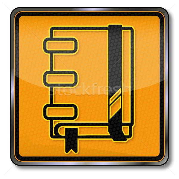 щит ноутбук школы знак прав Дать Сток-фото © Ustofre9