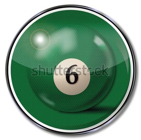 Shield black billiard ball number 8 Stock photo © Ustofre9