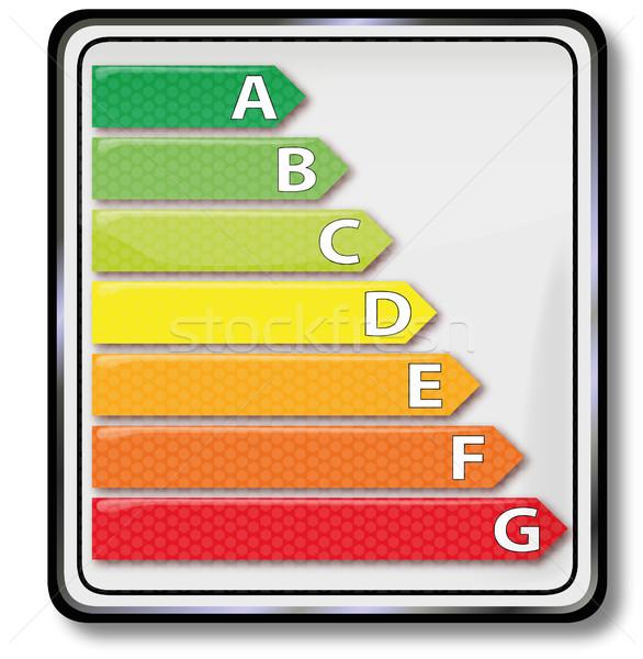 Pajzs energia fogyasztás épület autók felirat Stock fotó © Ustofre9