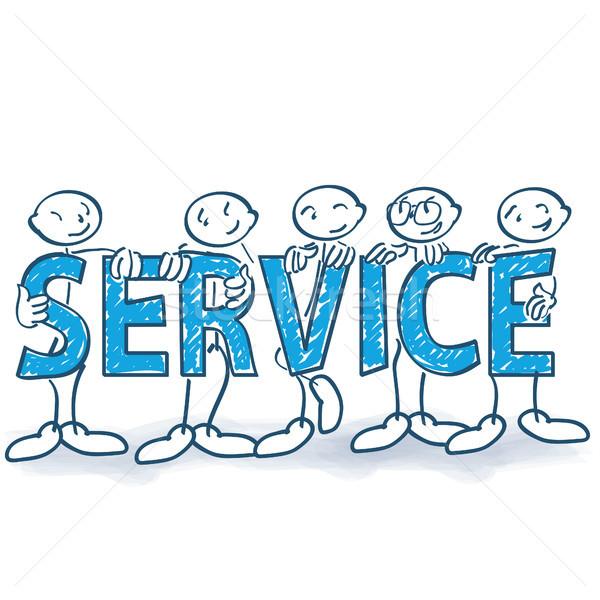 Palo carteles servicio negocios equipo ayudar Foto stock © Ustofre9