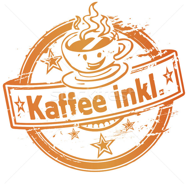 Rubber stamp with coffee included Stock photo © Ustofre9