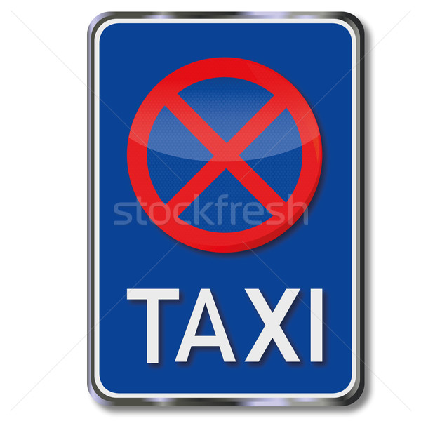 Taxi sign and parking ban Stock photo © Ustofre9