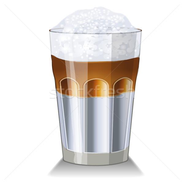 Latte macchiato glass Stock photo © Ustofre9