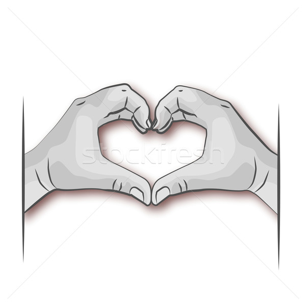 Two hands forming a heart Stock photo © Ustofre9