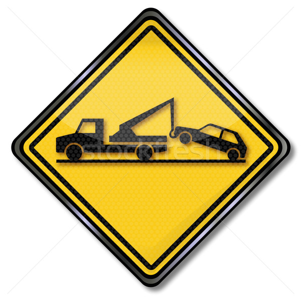 Traffic sign sign no parking and tow traffic  Stock photo © Ustofre9