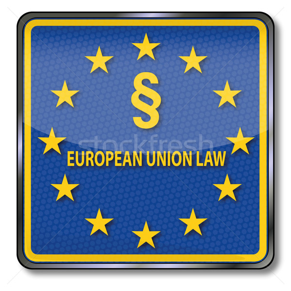 Sign with paragraph with Eu law Stock photo © Ustofre9