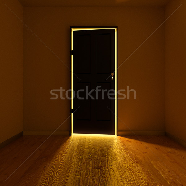 Buio stanza porta business ufficio Foto d'archivio © Ustofre9