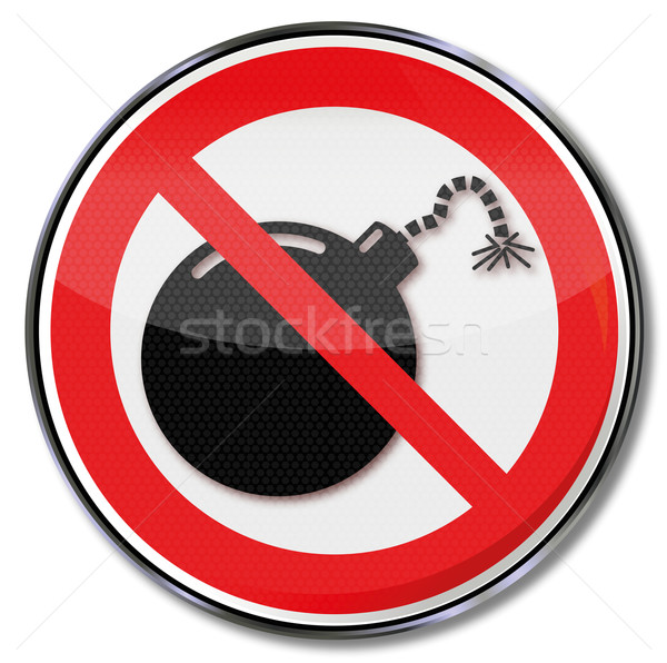Hazard symbol and prohibition bomb Stock photo © Ustofre9