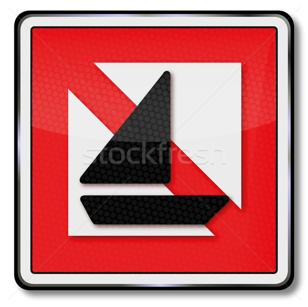 Navigational mark ban on sailing ships Stock photo © Ustofre9