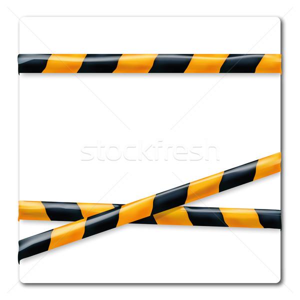 Fluttering ribbon orange and black Stock photo © Ustofre9