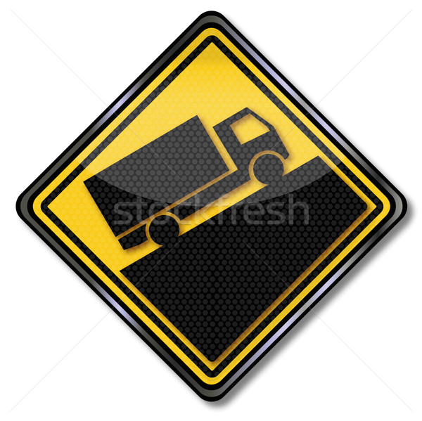 Warning sign trucks and slope Stock photo © Ustofre9