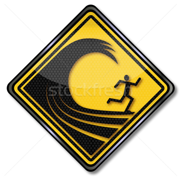 Warning sign high waves  Stock photo © Ustofre9