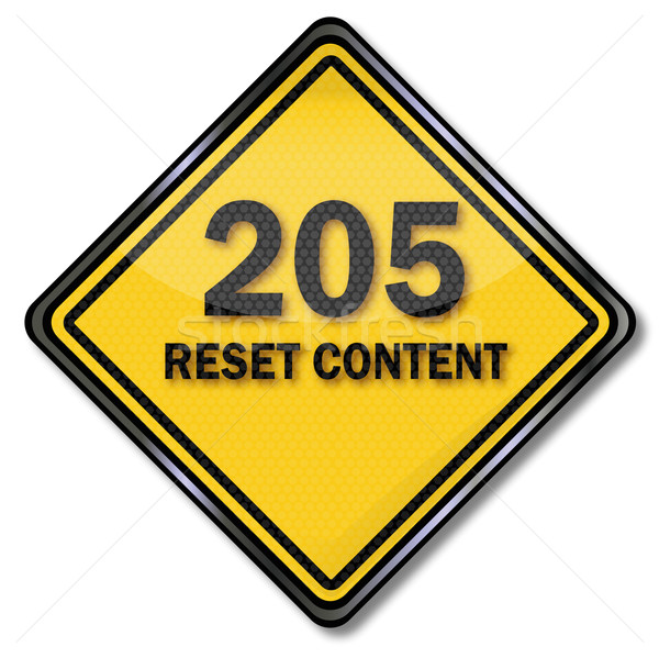 Computer sign 205 reset content Stock photo © Ustofre9