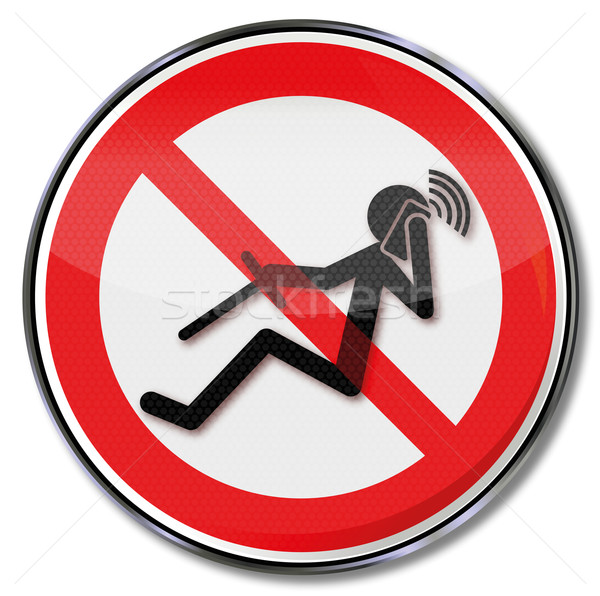 Prohibition sign for phoning while driving  Stock photo © Ustofre9
