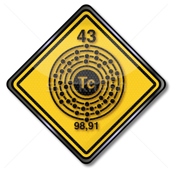 Chemistry shield and chemical character technetium Stock photo © Ustofre9
