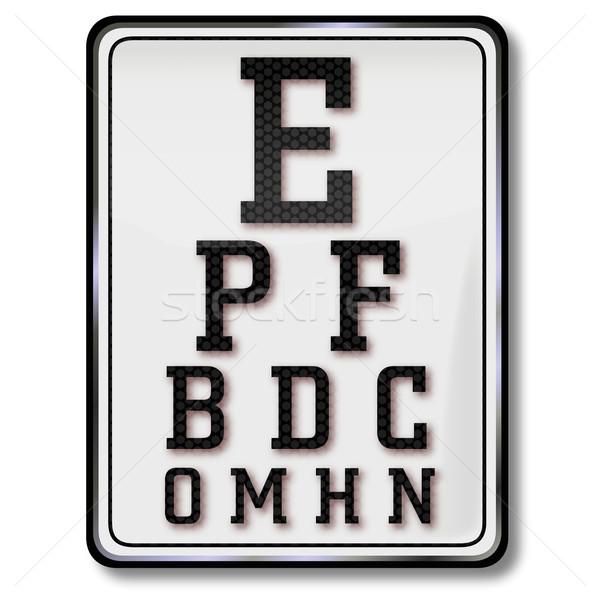 Escudo ojo tabla examen de la vista escuela estudiantes Foto stock © Ustofre9