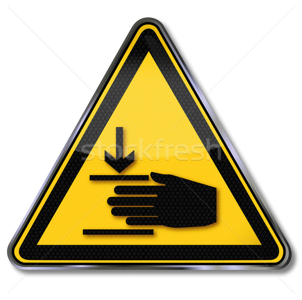Danger sign warning of injury to hands Stock photo © Ustofre9