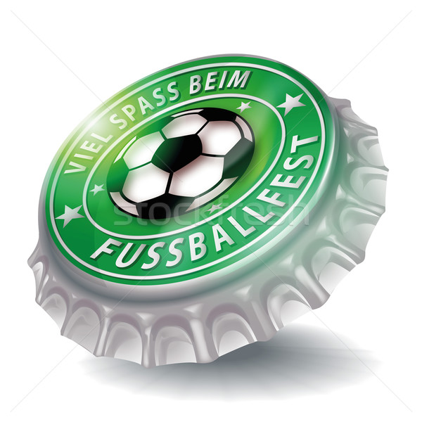 Bottle cap with soccer festival  Stock photo © Ustofre9