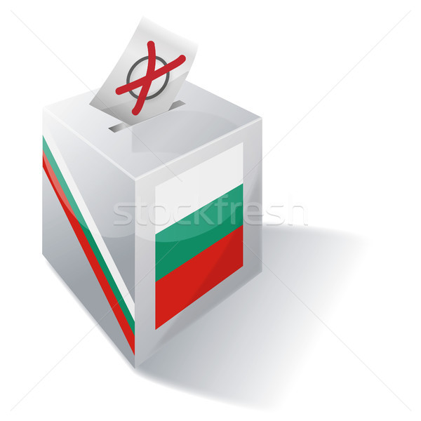 Сток-фото: голосование · окна · Болгария · крест · флаг · конверт