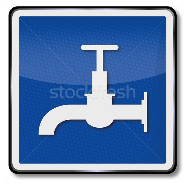 Ship sign water faucet and drinking water Stock photo © Ustofre9