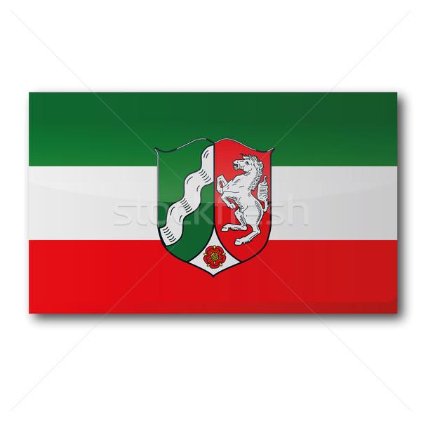Flag North Rhine-Westphalia Stock photo © Ustofre9