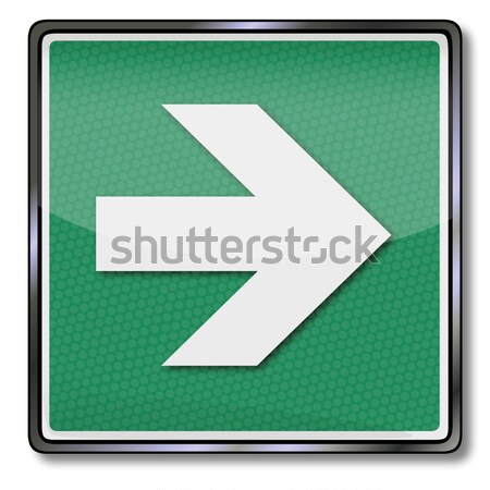 Fire safety sign direction arrow and right arrow Stock photo © Ustofre9