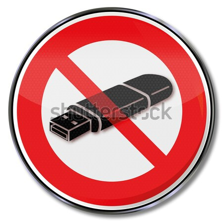Prohibition sign for weapons and violence Stock photo © Ustofre9