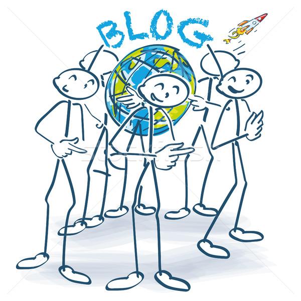 Stick Блог вокруг Мир мира дизайна Сток-фото © Ustofre9