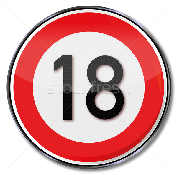 Sign legal age and birthday 18 Stock photo © Ustofre9