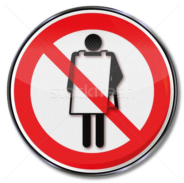 Prohibition sign advertising ban Stock photo © Ustofre9
