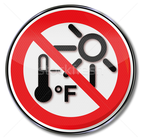 Sign protecting beware of overheating Stock photo © Ustofre9