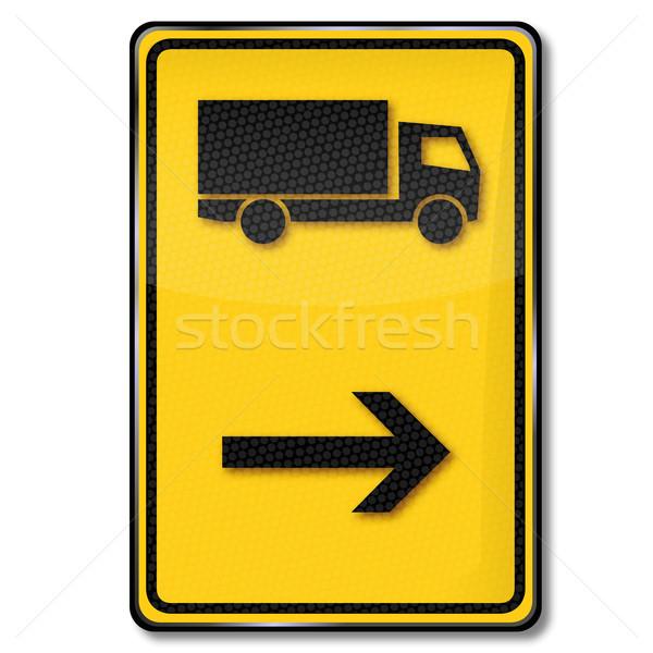 Traffic sign diversion for trucks Stock photo © Ustofre9